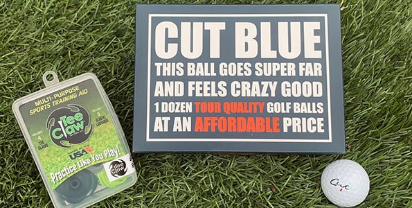 cut blue golf ball review