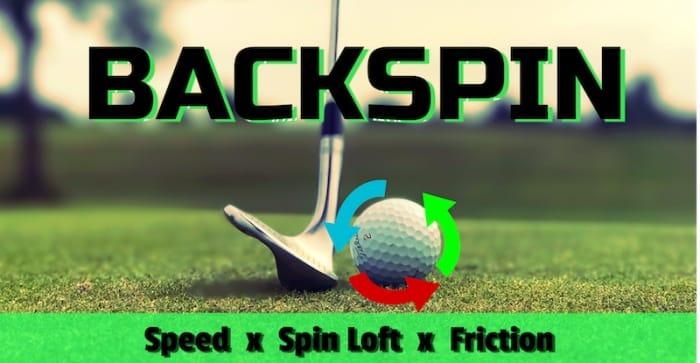 Backspin in golf